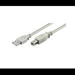 Microconnect USB 2.0 A-B 0.5m M-M USB cable USB A USB B White