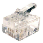 Cables Direct RJ-11 6P4C wire connector 1x RJ-11 Transparent