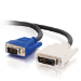 C2G 1m DVI-A M / HD15 M Cable VGA (D-Sub) Black
