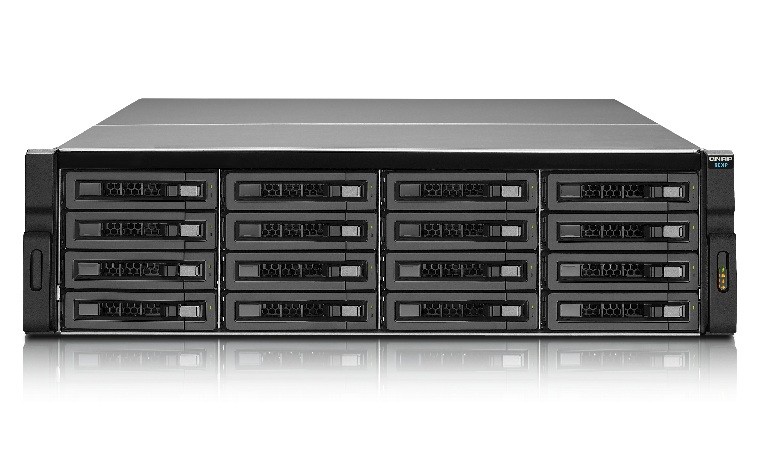 QNAP REXP-1620U-RP Rack (3U) Black disk array