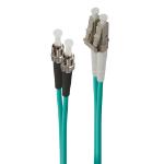 ALOGIC 2m LC-ST 40G/100G Multi Mode Duplex LSZH Fibre Cable 50/125 OM4