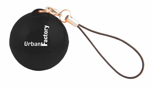 Urban Factory Music Ball Black - transforms any container to a speaker using vibrations
