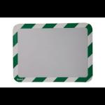 Tarifold Magneto A4 Safety Frames Adhesive Green/White PK2