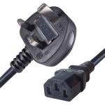 Connekt Gear 10M UK Plug to C13 Mains Power Cable Black