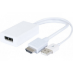 Hypertec 127389-HY cable interface/gender adapter DisplayPort HDMI, USB White