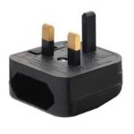 Lindy 73072 Type D (UK) Black power plug adapter