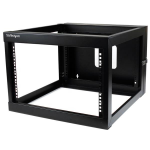 StarTech.com RK619WALLOH rack cabinet 6U Wall mounted rack Black