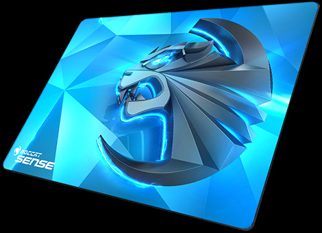 ROCCAT Sense Black,Blue Gaming mouse pad