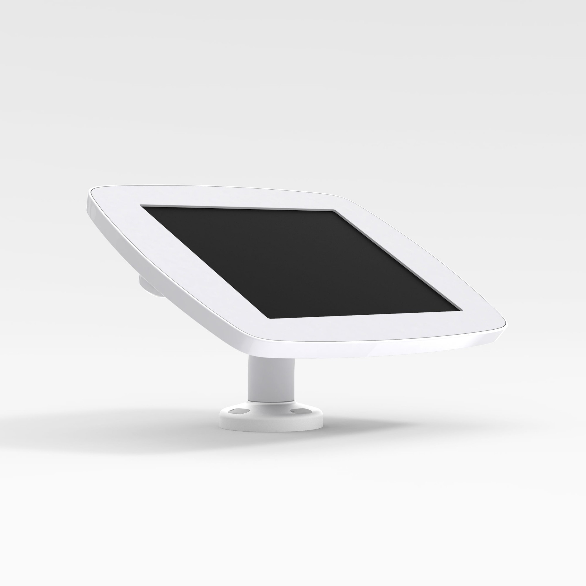 Bouncepad Swivel Desk   Apple iPad 3rd Gen 9.7 (2012)   White   Covered Front Camera and Home Button  