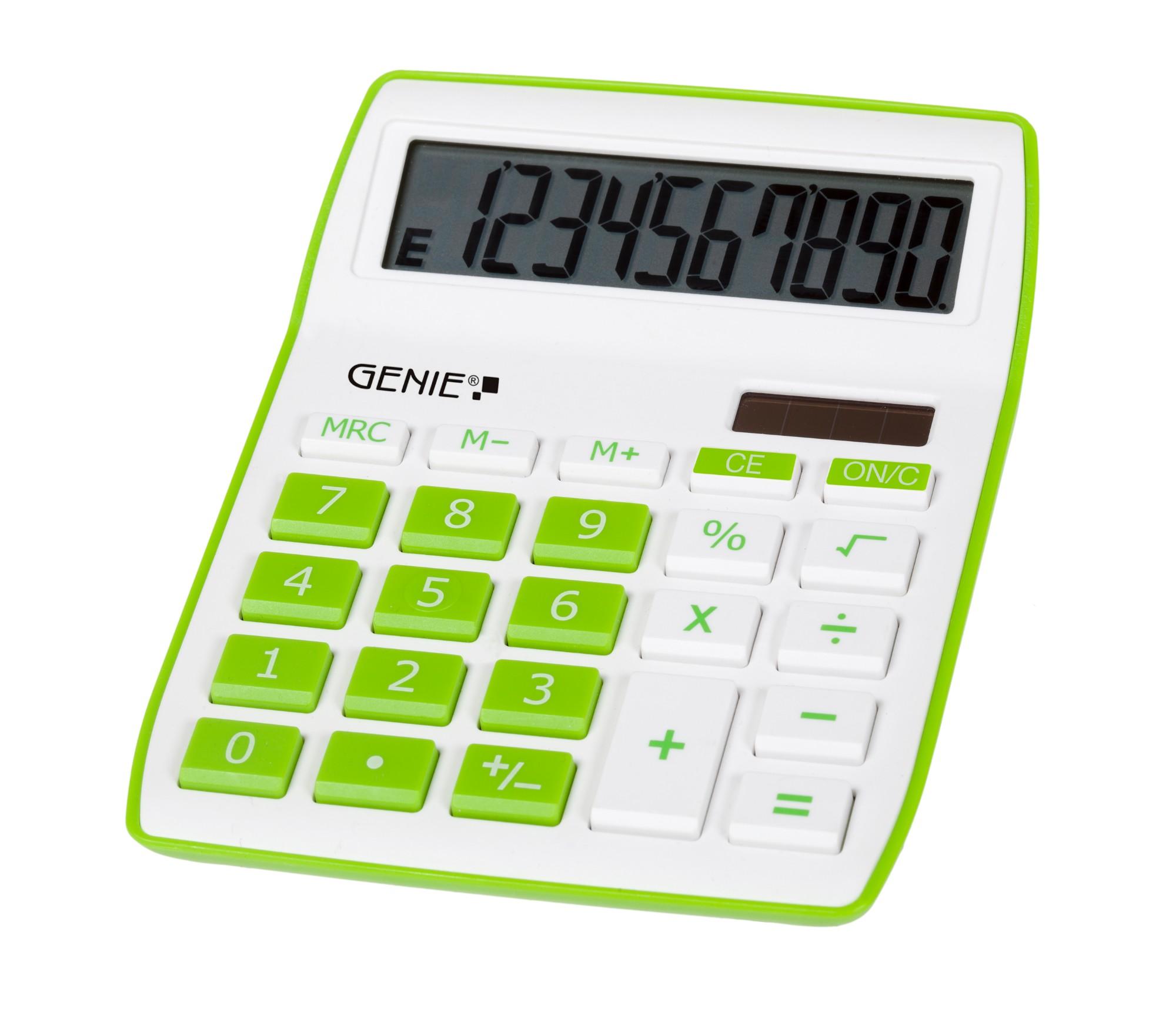 Genie 840 G calculator Desktop Display Green, White