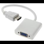 Astrotek HDMI - VGA M/F VGA (D-Sub) White