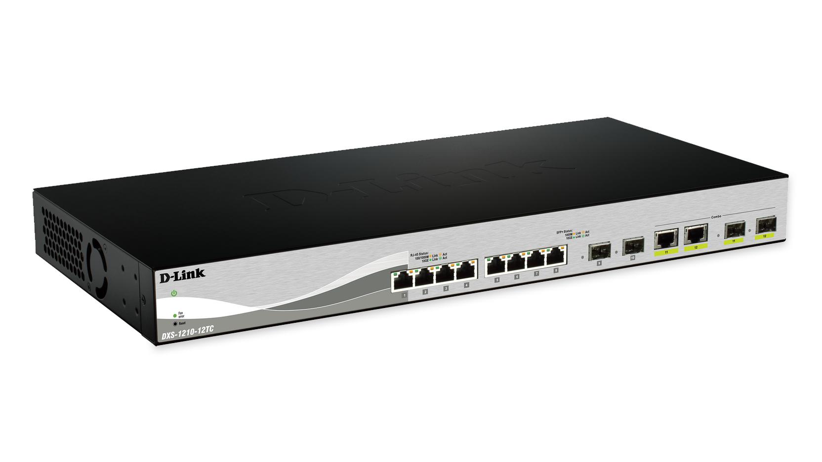 D-Link DXS-1210-12SC switch Gestionado L2 Negro, Plata 1U