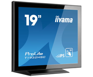 "iiyama ProLite T1932MSC-B5AG touch screen monitor 48.3 cm (19"") 1280 x 1024 pixels Multi-touch Tabletop Black"