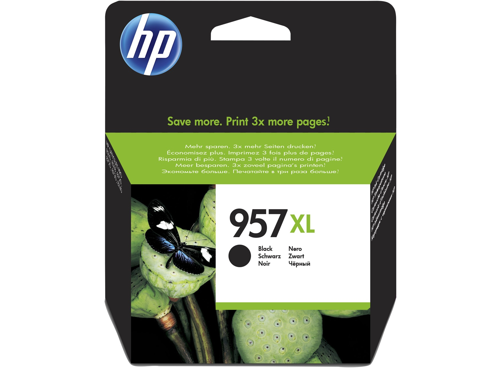 HP 957XL Black Original Ink Cartridge Negro