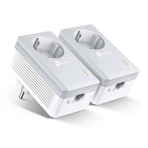 TP-LINK Passthrough Powerline 600 Starter Kit, 1 Port