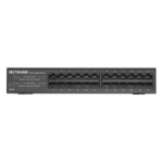 Netgear GS324 Unmanaged network switch Gigabit Ethernet (10/100/1000) 1U Black