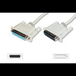 ASSMANN Electronic AK-610201-100-E seriële kabel Beige 10 m D-Sub25