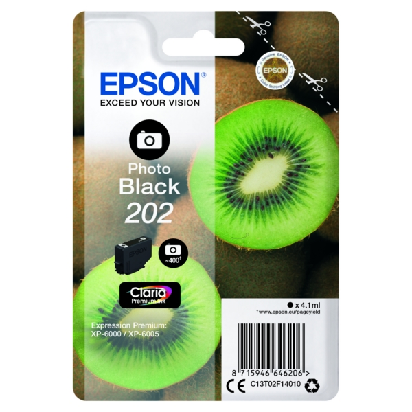 Epson C13T02F14010 (202) Ink cartridge bright black, 400 pages, 4ml