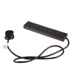 SMJ F4W2BQ Indoor 4AC outlet(s) 2m Black power extension