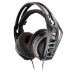 Plantronics RIG 400 auricular con micrófono Diadema Binaural Negro, Naranja