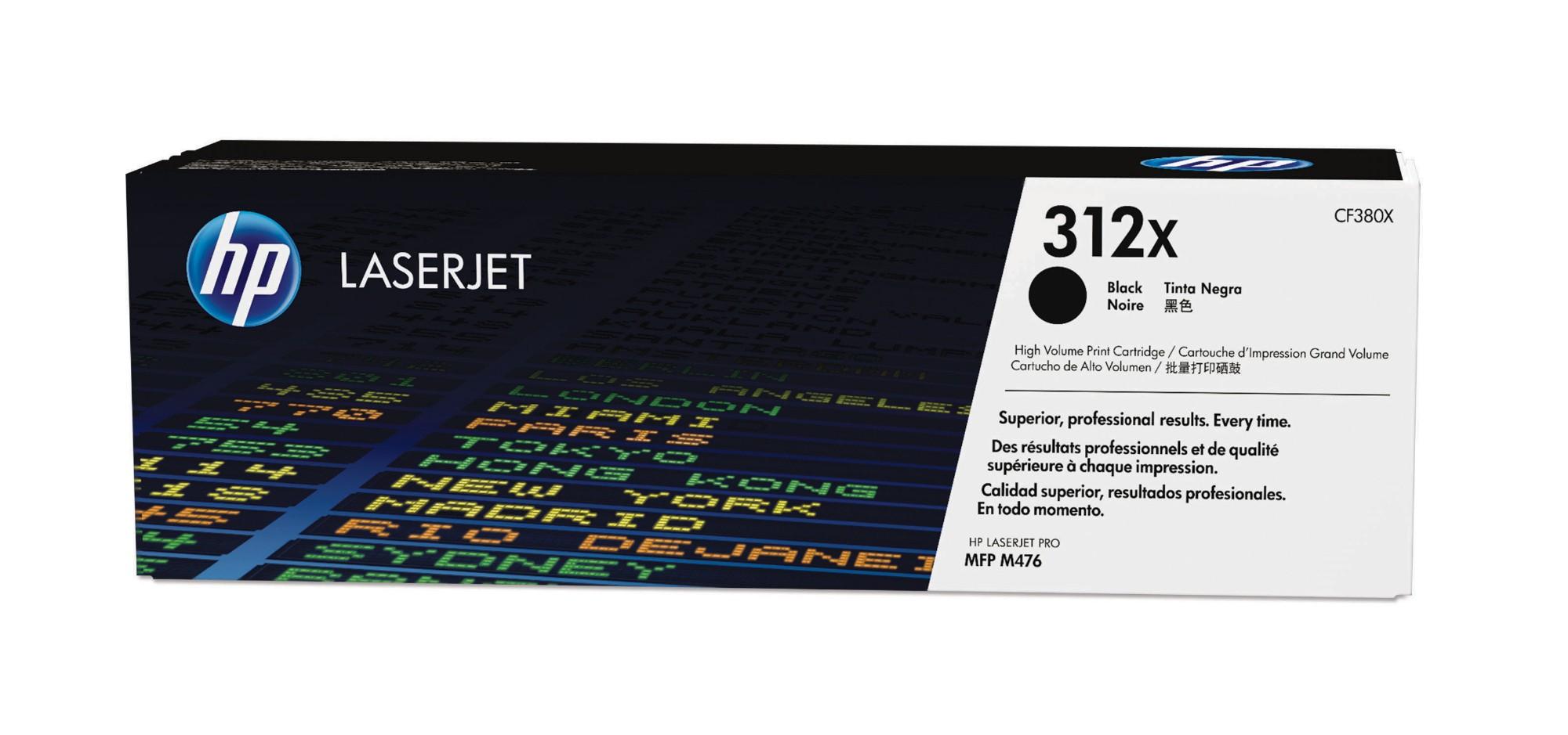 HP 312X Origineel Zwart 1 stuk(s)