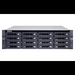 QNAP TS-1673U-RP-8G Ethernet LAN Rack (3U) Black NAS