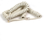 Belkin Coiled Telephone Handset Cord, 12 feet (3.7m), Ivory 3.7m Telephony Cable