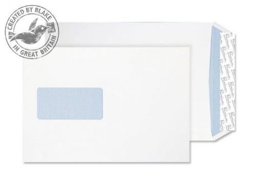 Blake Premium Office Pocket Window Peel and Seal Ultra White Wove C5 120gsm (Pack 500)