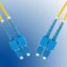 Microconnect SC/PC-SC/PC 2m 2m SC SC Yellow fiber optic cable