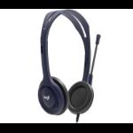 Logitech 991-000265 headphones/headset Kopfhörer Kopfband Schwarz, Blau