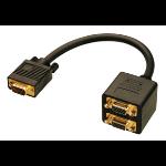 Lindy VGA Splitter Cable 0.18m VGA (D-Sub) VGA (D-Sub) Black VGA cable 41214