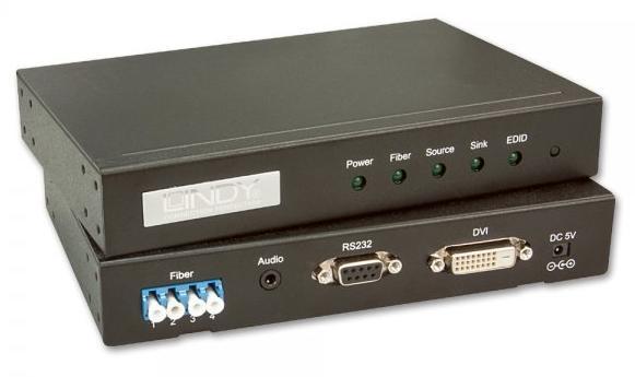 Lindy 38065 AV transmitter & receiver Black AV extender