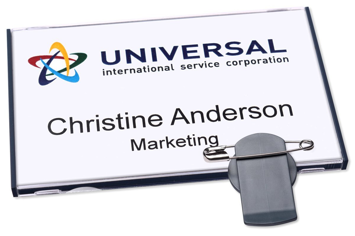 Avery Vista 60 Name Badge Combiclip Anthracite 20 Badge 30 Labels