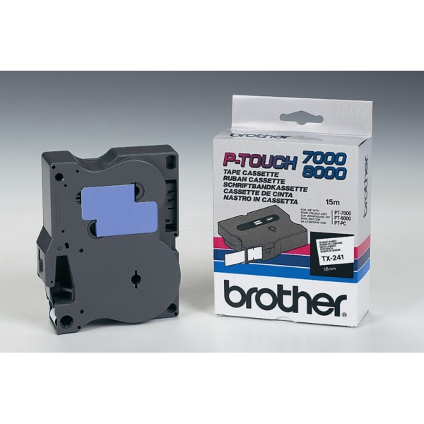 Brother TX-241 P-Touch Ribbon, 18mm x 15m
