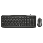 Trust Wired and Mouse - Black keyboard USB