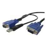 "StarTech.com SVECONUS6 KVM cable Black 70.9"" (1.8 m)"