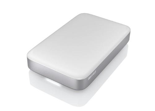 Buffalo MiniStation Thunderbolt 2.0TB external hard drive 2000 GB Silver,White