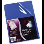 """Rexel Nyrexâ""""¢ A4 Cut Flush Folders Blue (25)"""