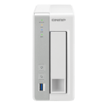 QNAP TS-131P storage server Ethernet LAN Tower Grey, White NAS