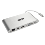 Tripp Lite U442-DOCK1 notebook dock/port replicator USB 3.0 (3.1 Gen 1) Type-C Silver