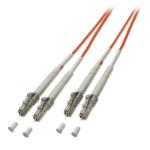 Lindy LC / LC 62.5/125µm OM1 20m fiber optic cable Orange