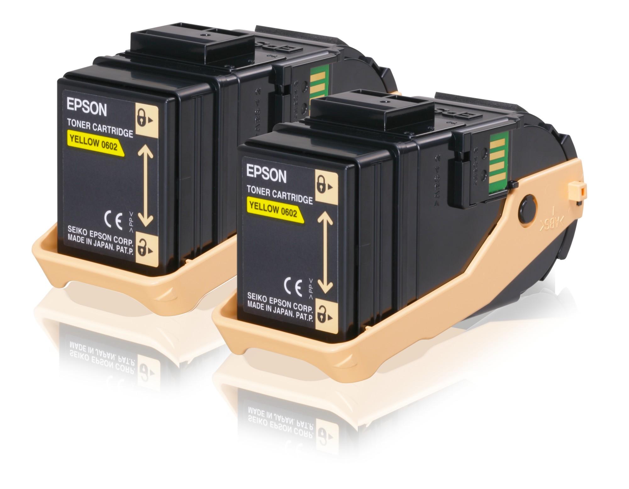 Epson Doble cartucho de tóner amarillo 7.5kx2
