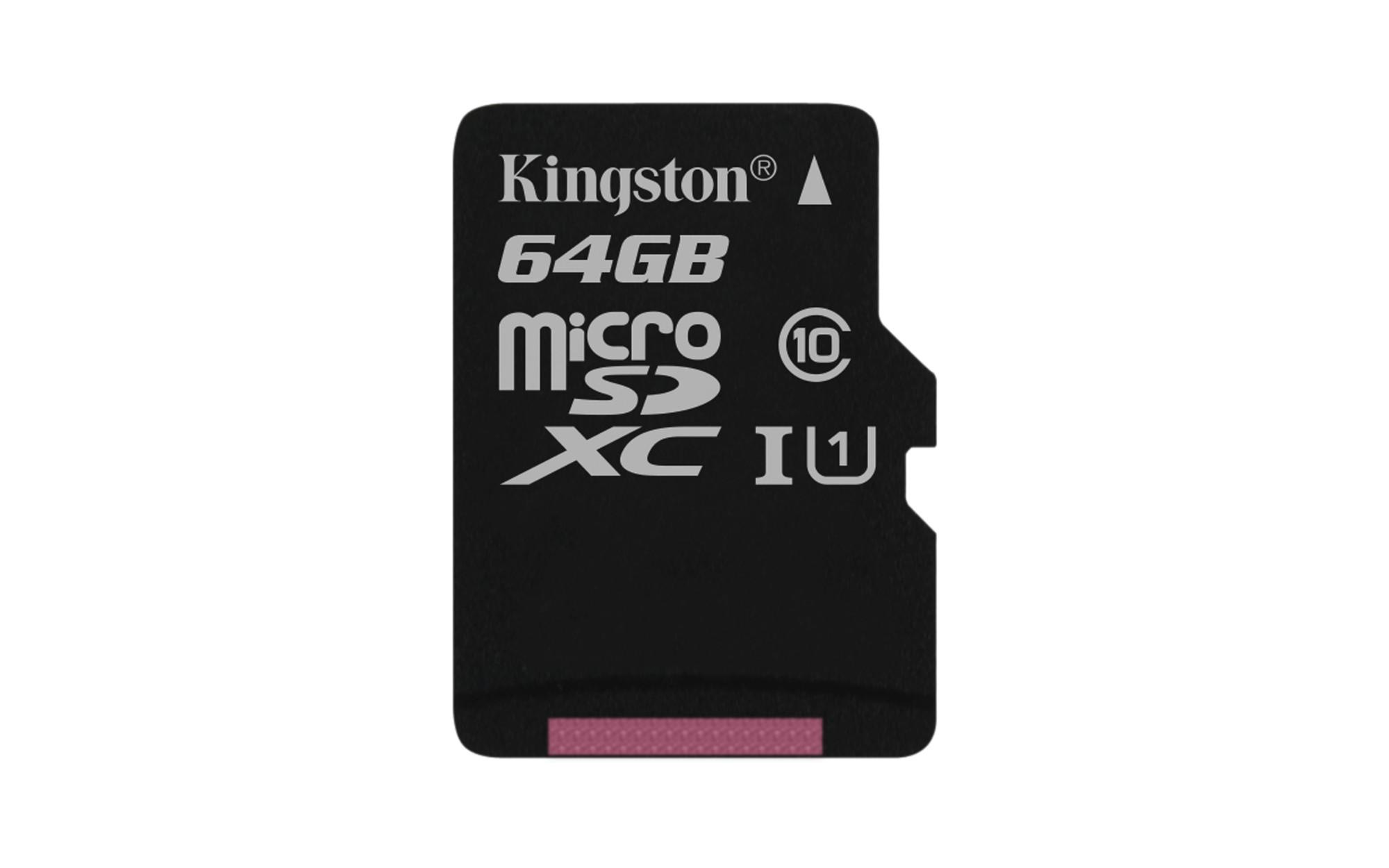 Kingston Technology Canvas Select memory card 64 GB MicroSD Class 10 UHS-I
