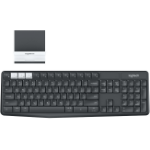 Logitech K375s toetsenbord RF Wireless + Bluetooth AZERTY Belgisch Grafiet, Wit