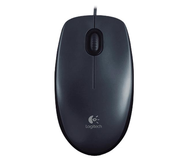 Logitech M100 USB Optical 1000DPI Ambidextrous Grey mice