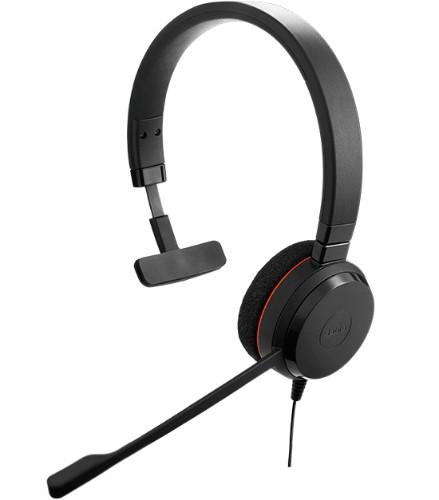 Jabra Evolve 20 UC Mono Headset Head-band Black
