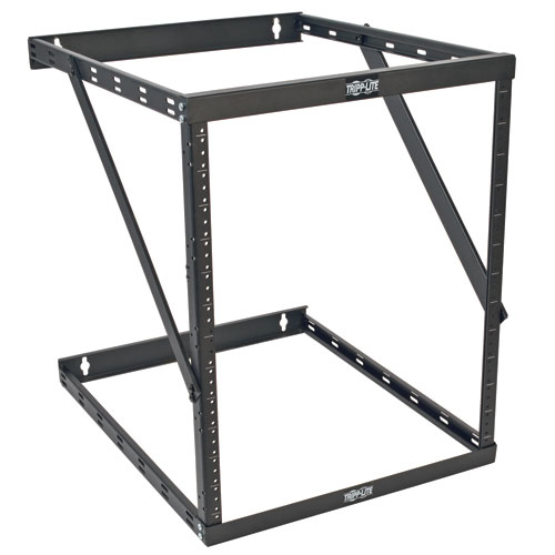 Tripp Lite 8U / 12U / 22U SmartRack Expandable Low-Profile Wall-Mount 2-Post Open-Frame Rack UPS-Depth