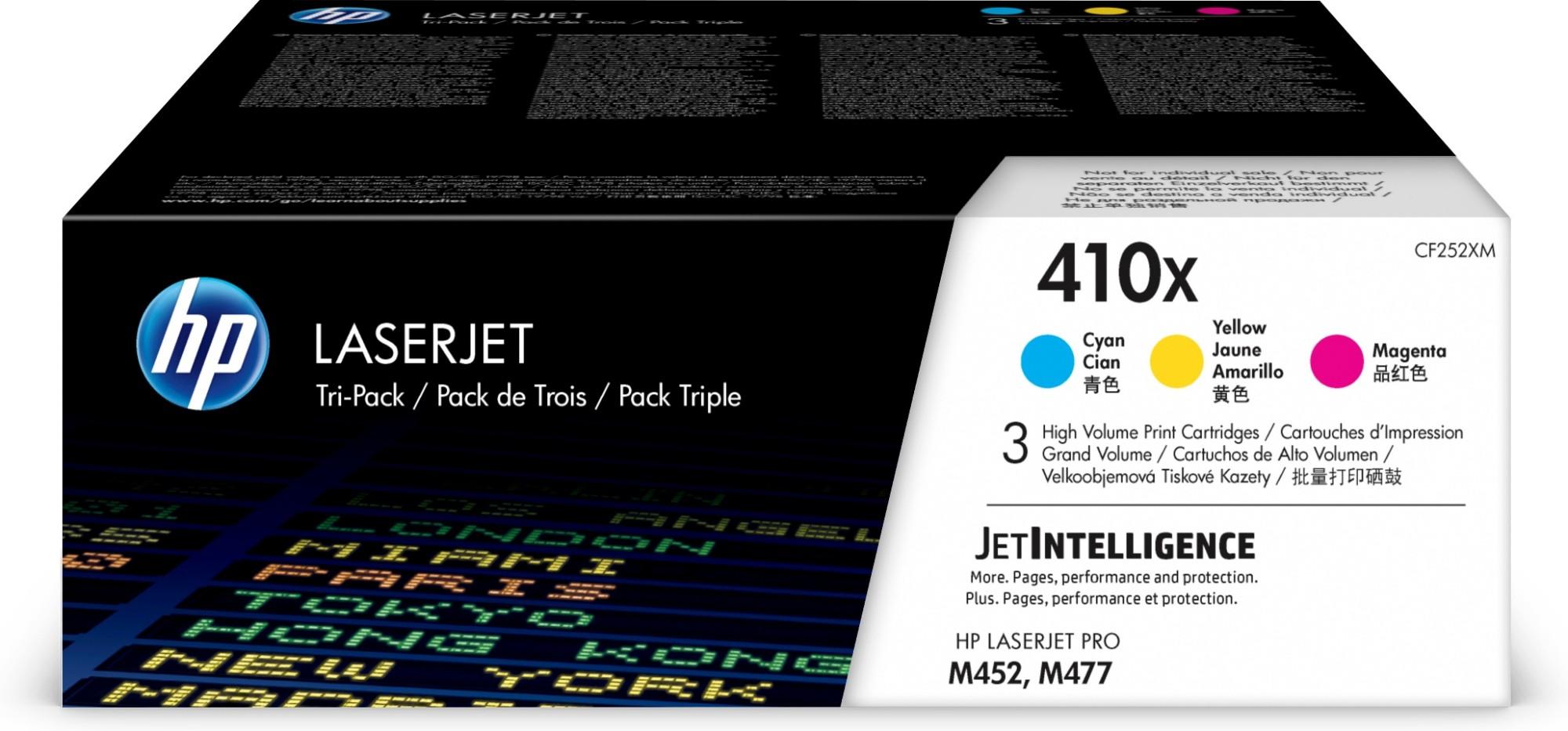 HP 410X Original Cian, Magenta, Amarillo 3 pieza(s)