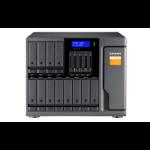 """QNAP TL-D1600S HDD/SSD enclosure Black, Grey 2.5/3.5"""" TL-D1600S/192TB-EXOS"""