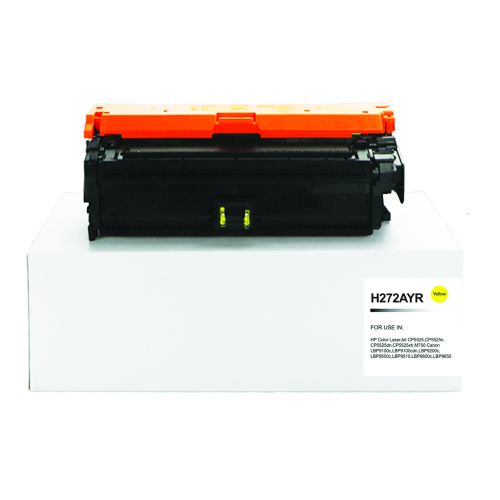 Remanufactured HP CE272A (650A) Yellow Toner Cartridge